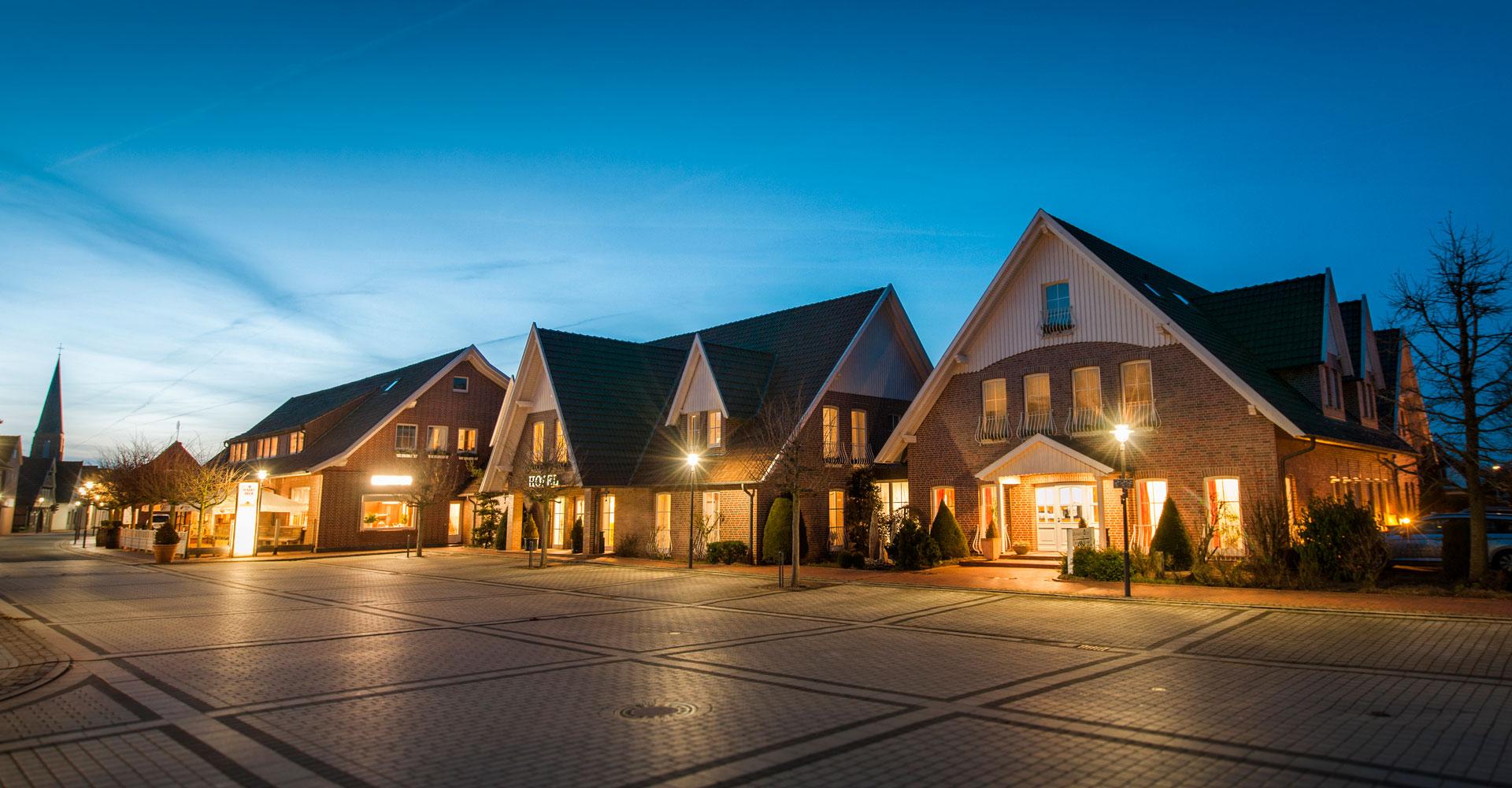 Aussenansicht des Hotel Rheinischen Hof in Dinklage in Niedersachsen